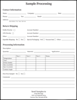 Sample Processing Form
